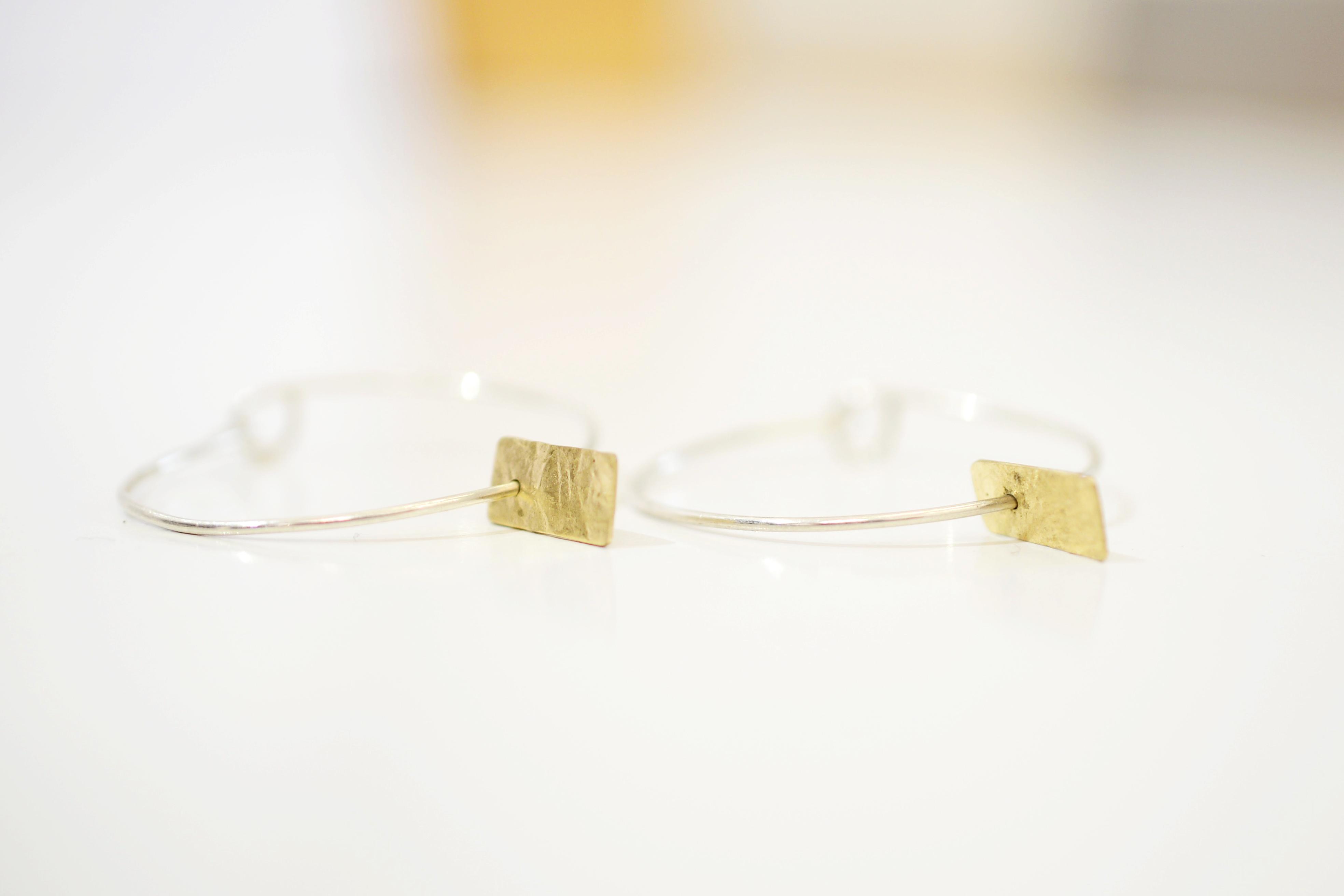 Golden Memory Hooped Earrings