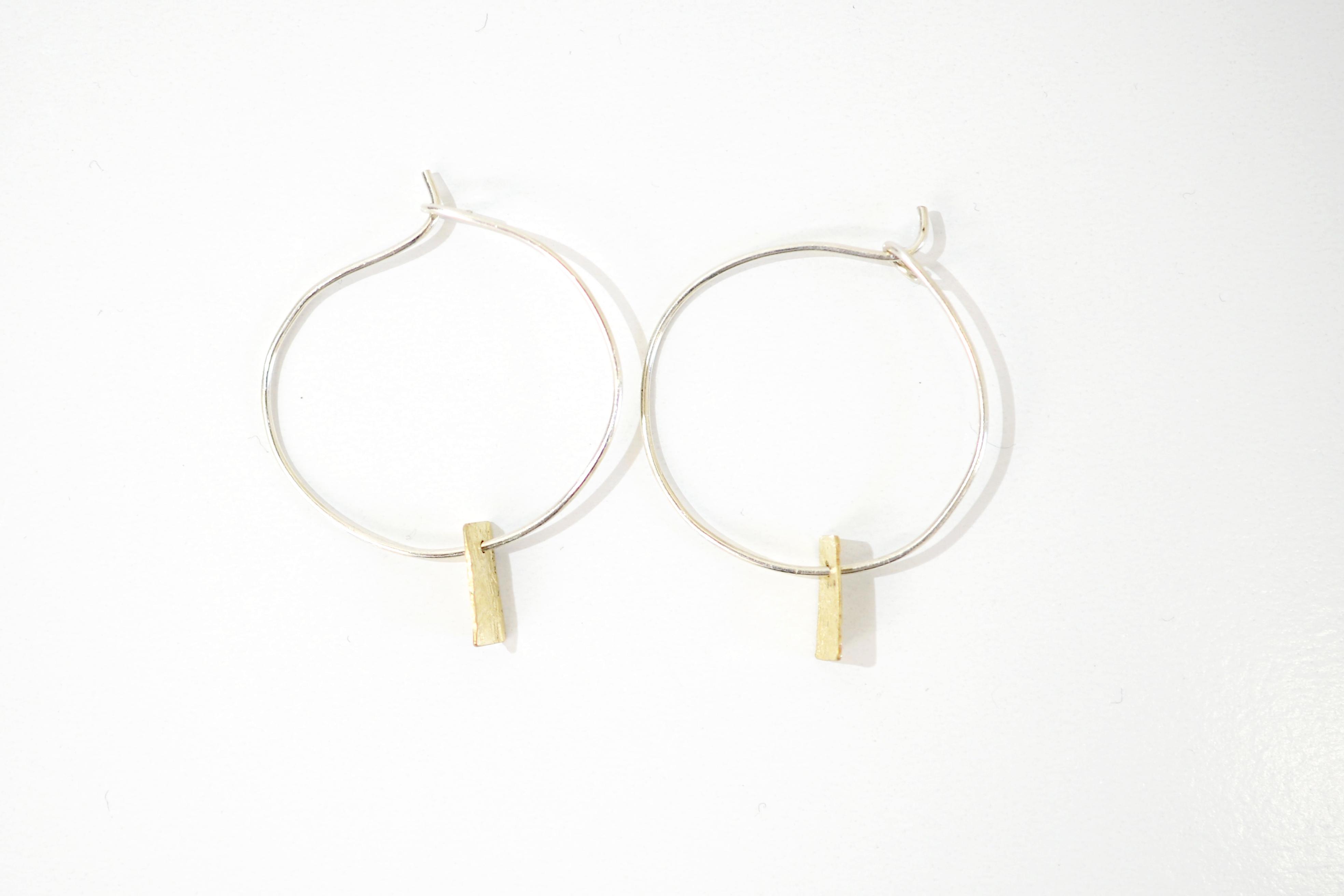 Golden Memory Hooped Earrings 2