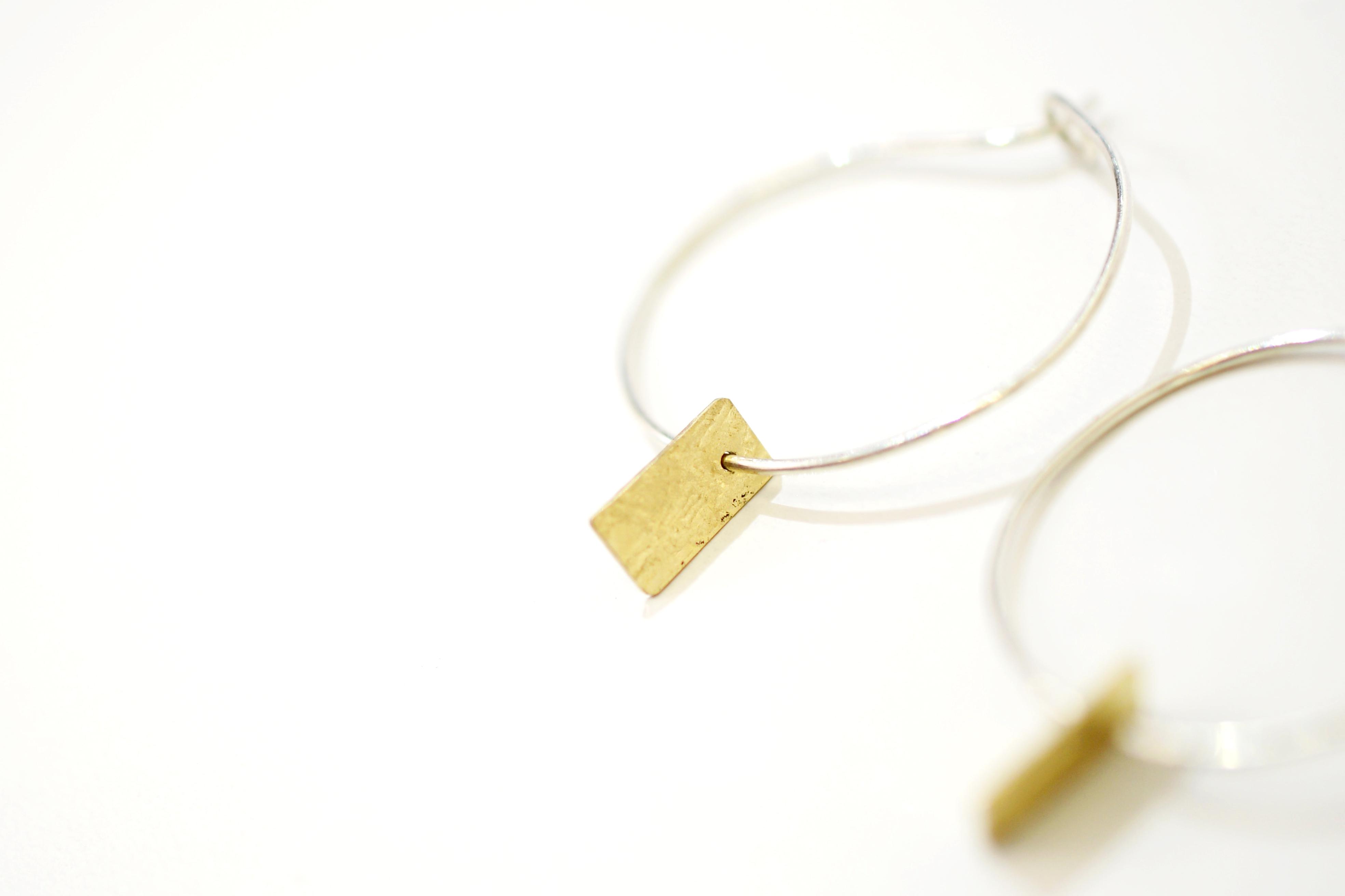 Golden Memories Hooped Earrings
