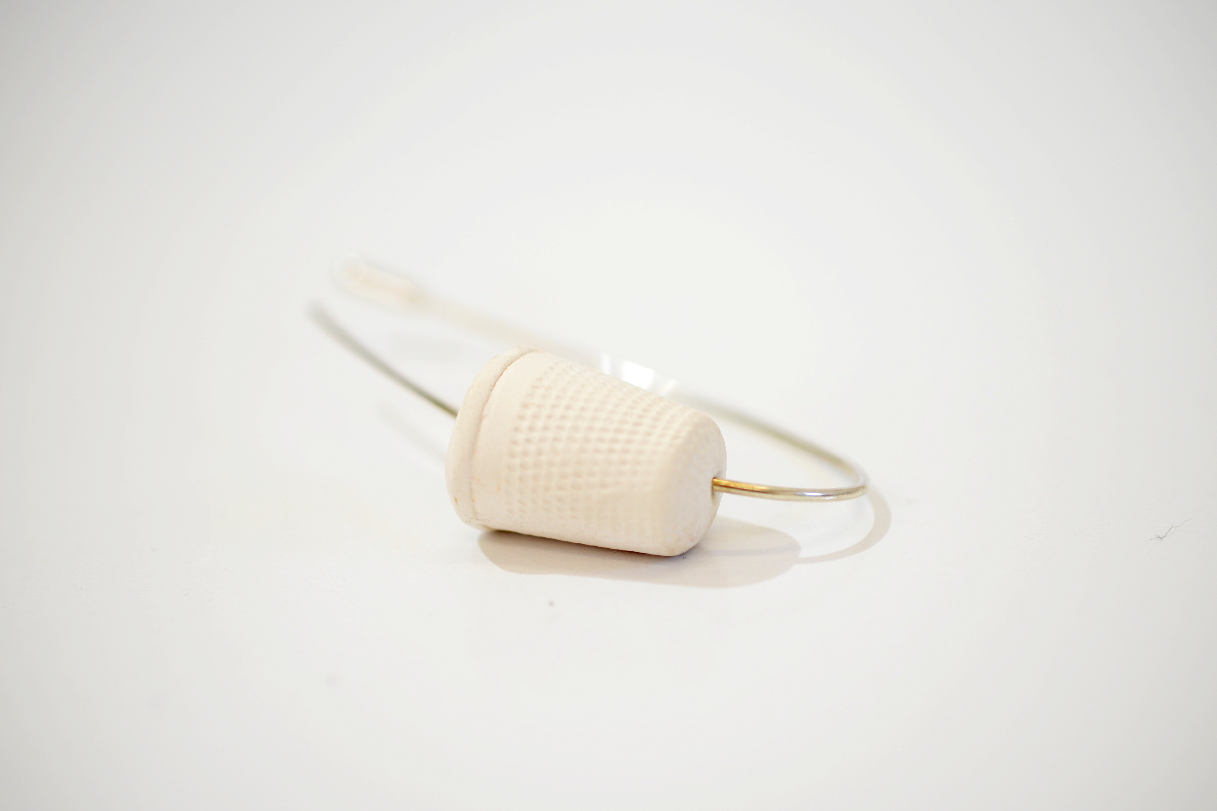Thimble Brooch Curved 3