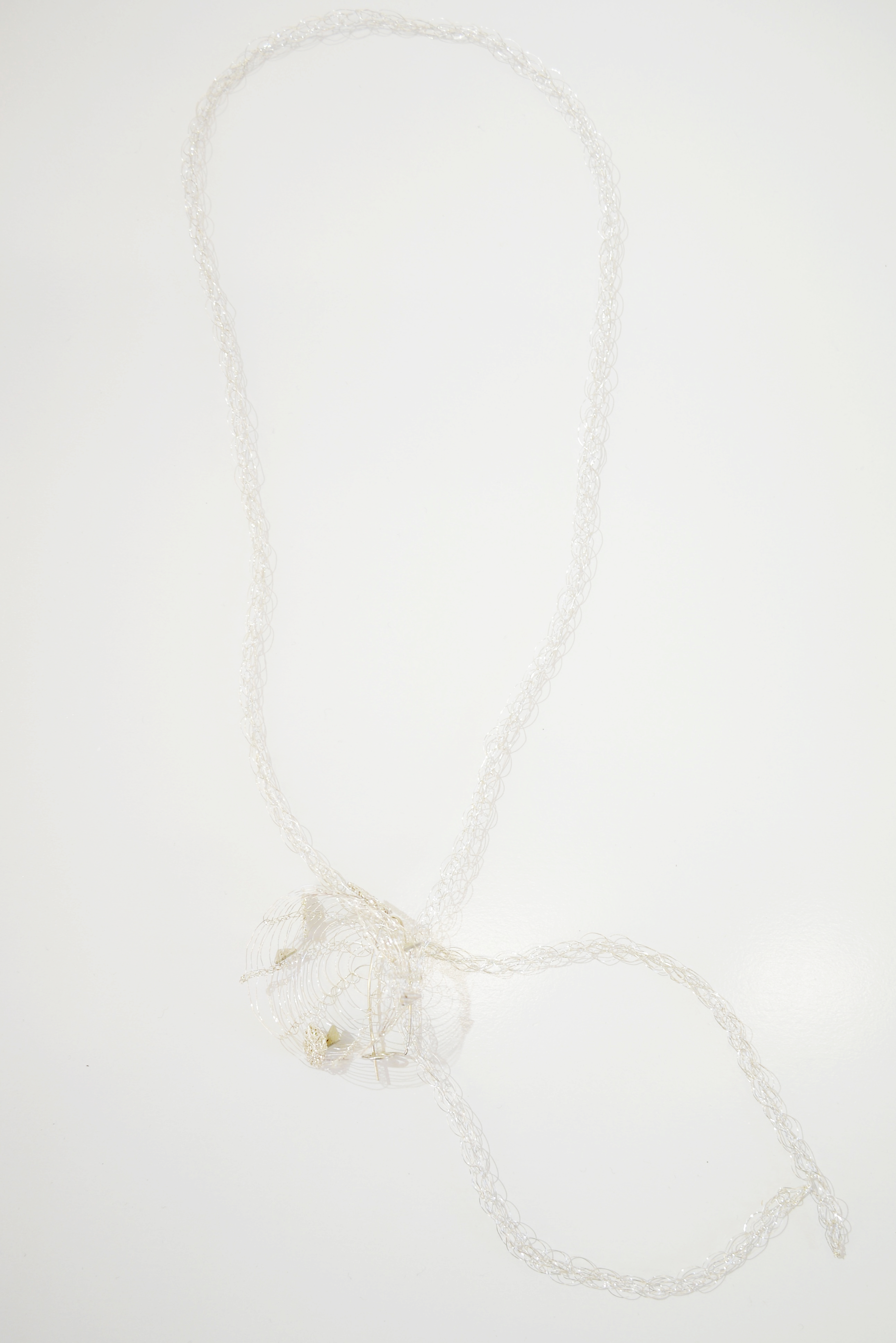 French Knitted Necklace with Basket 3