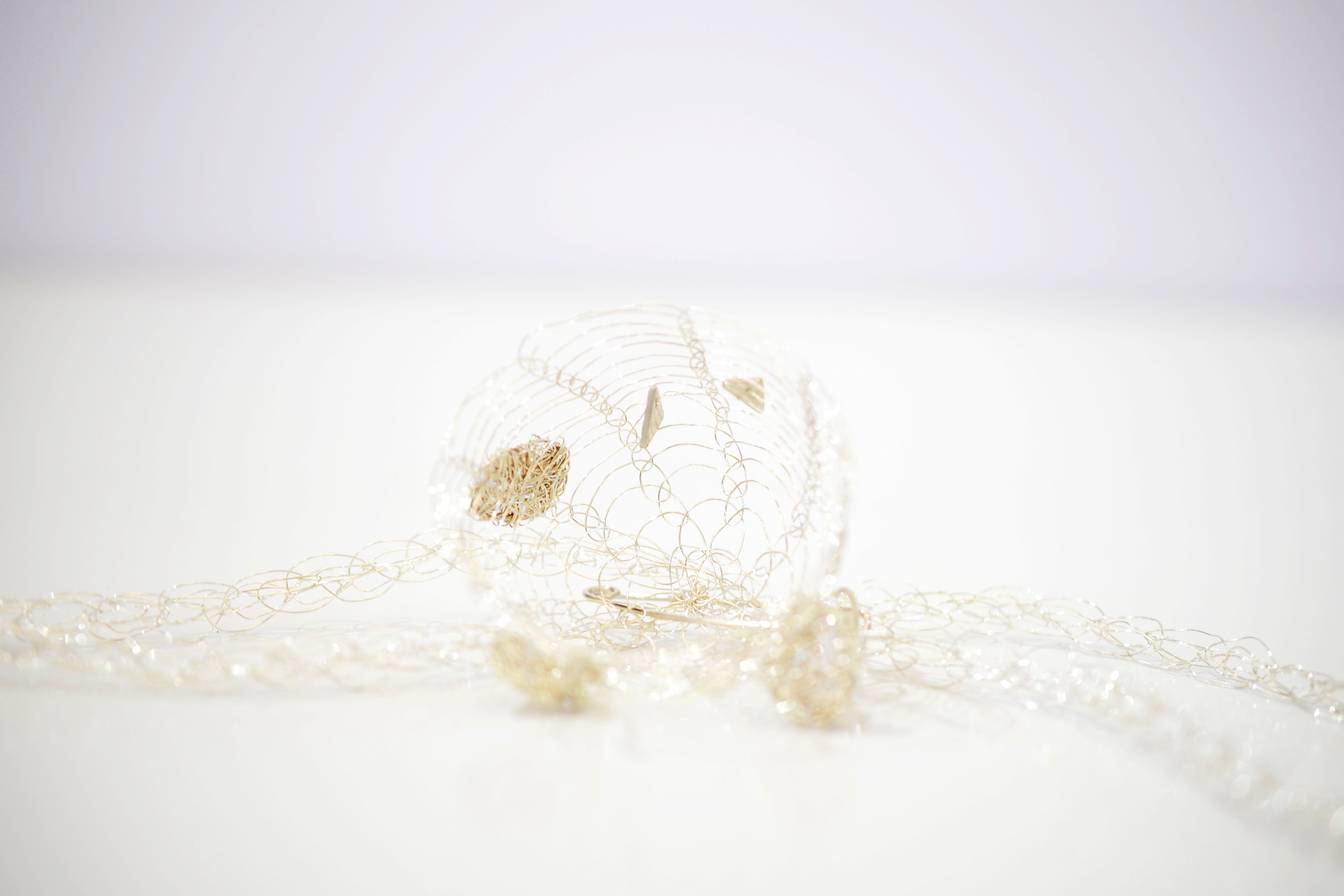 French Knitted Necklace with Basket 4