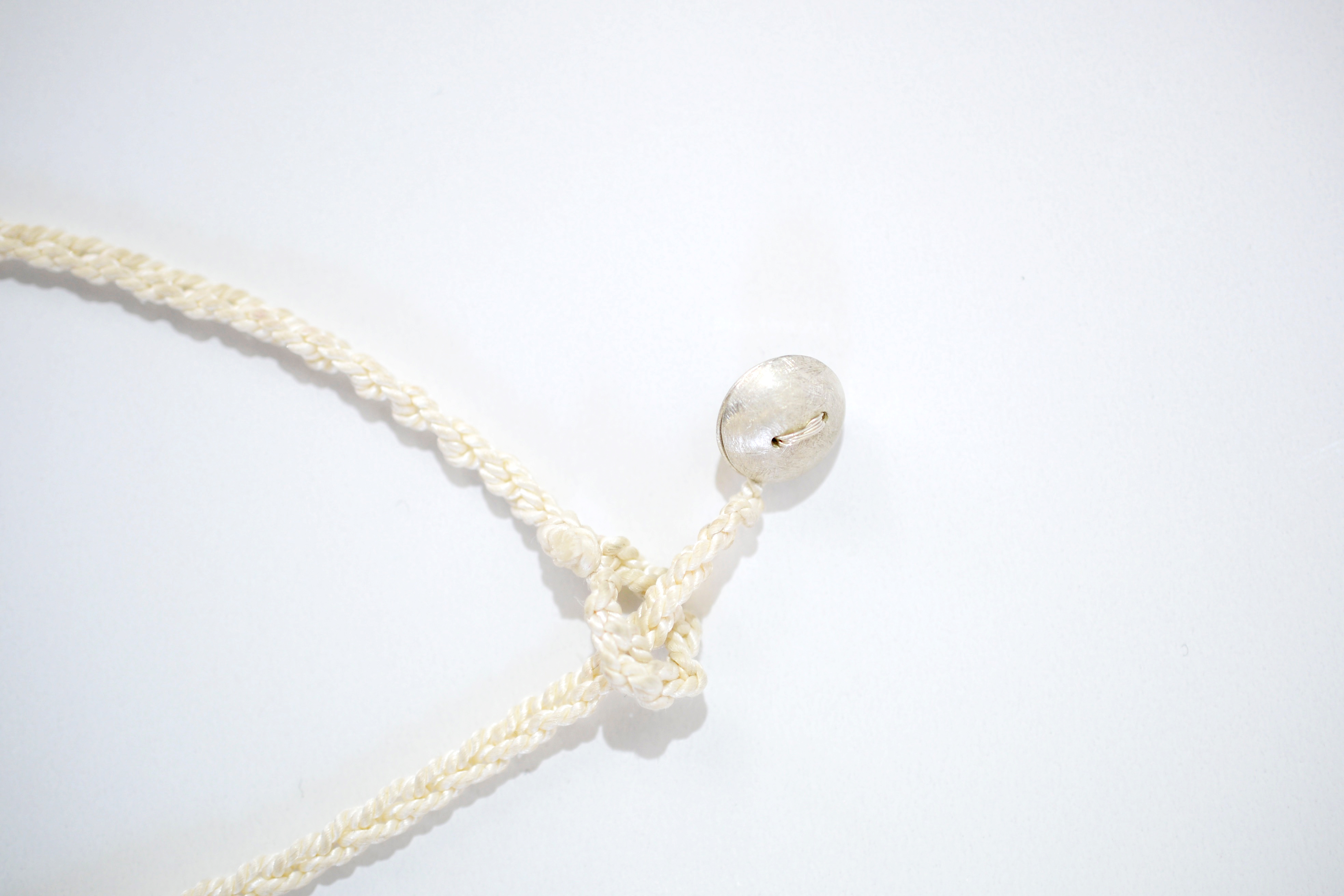 Mother of Pearl Thimble Necklace 2