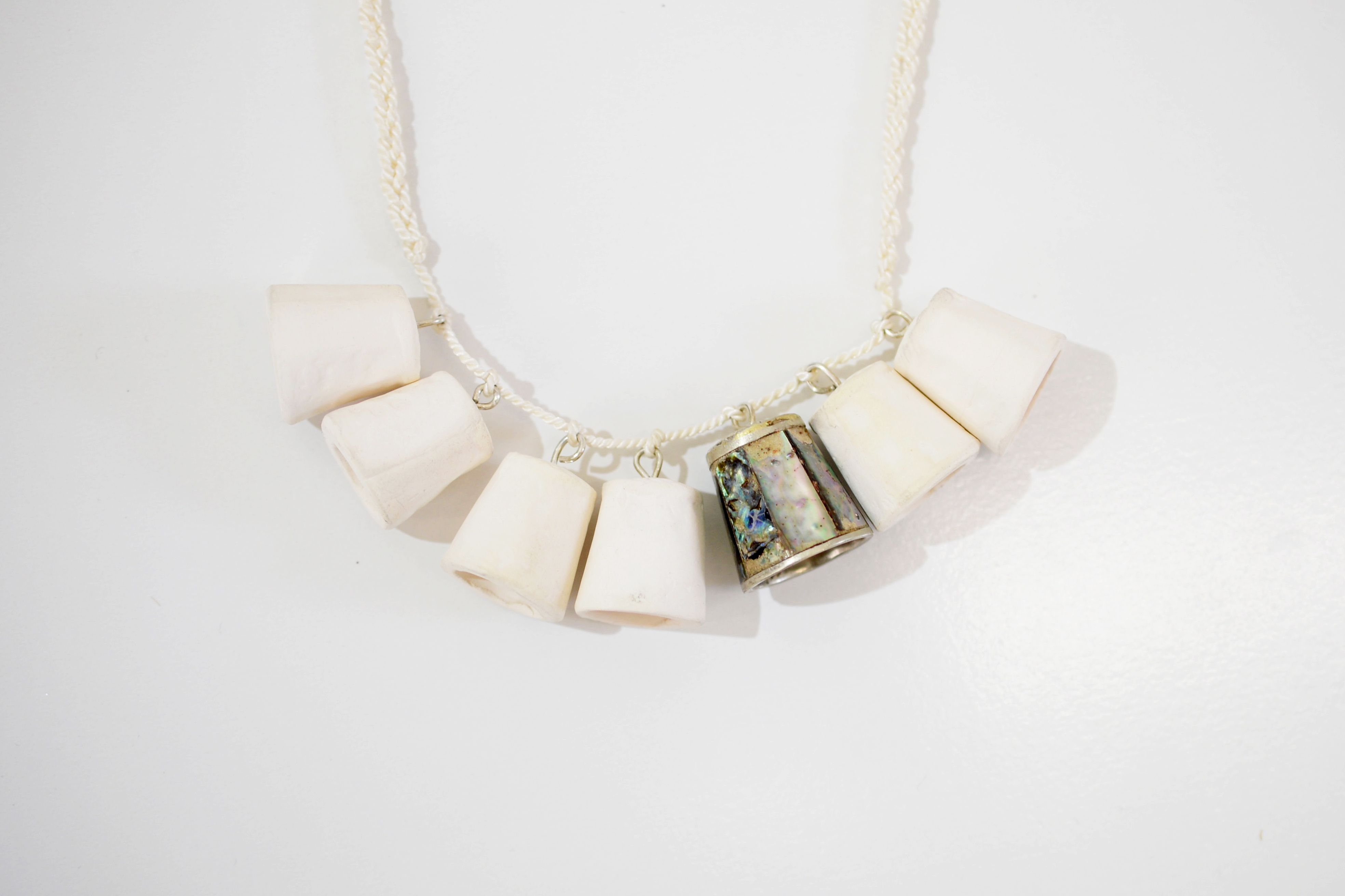 Mother of Pearl Thimble Necklace 3