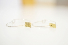Golden Memory Hooped Earrings