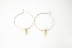Golden Memory Hooped Earrings 2