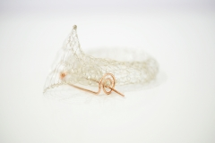 French Knitted Bangle with Gold Pin 7
