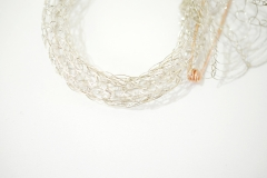 French Knitted Bangle with Gold Pin 8