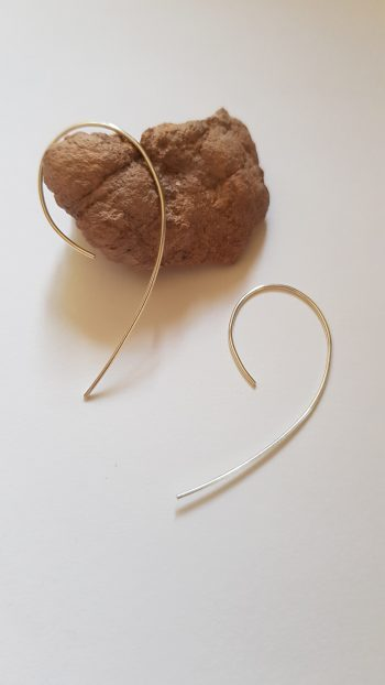 Curved Marks & Lines Earrings (Polished)