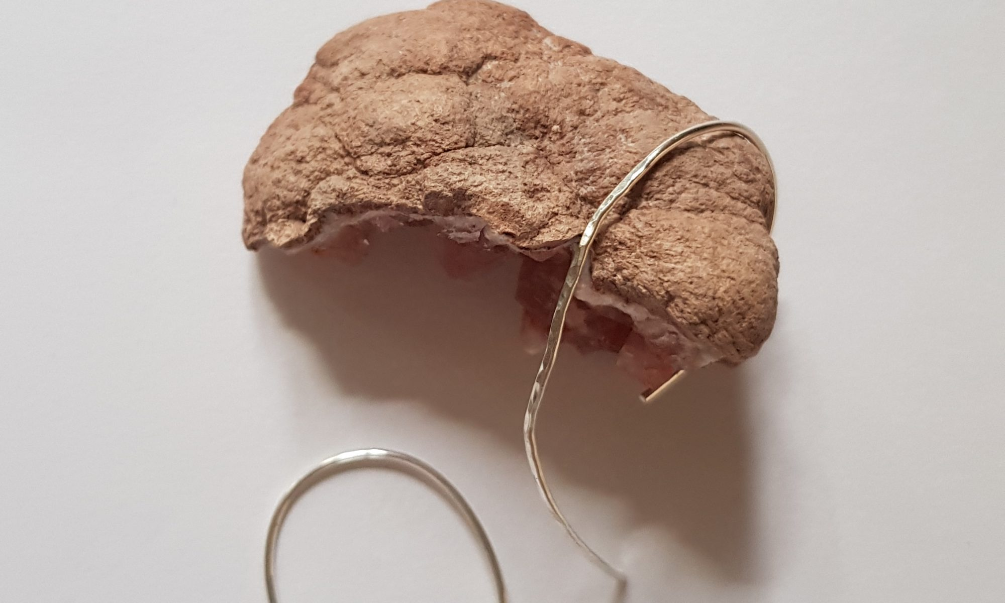 Curved Marks & Lines Earrings (Hammered)